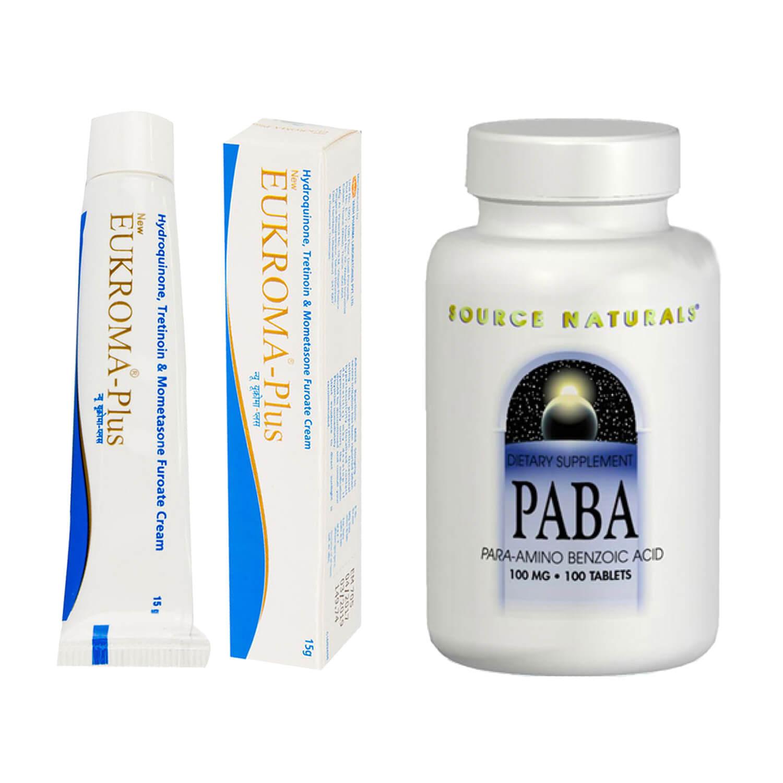 ユークロマプラスクリーム3本+PABA(美容ビタミン)
