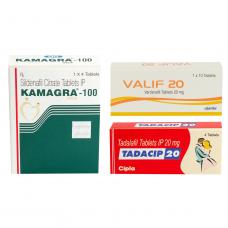 3大ED治療薬ジェネリックセット(カマグラゴールド・タダシップ・バリフ)